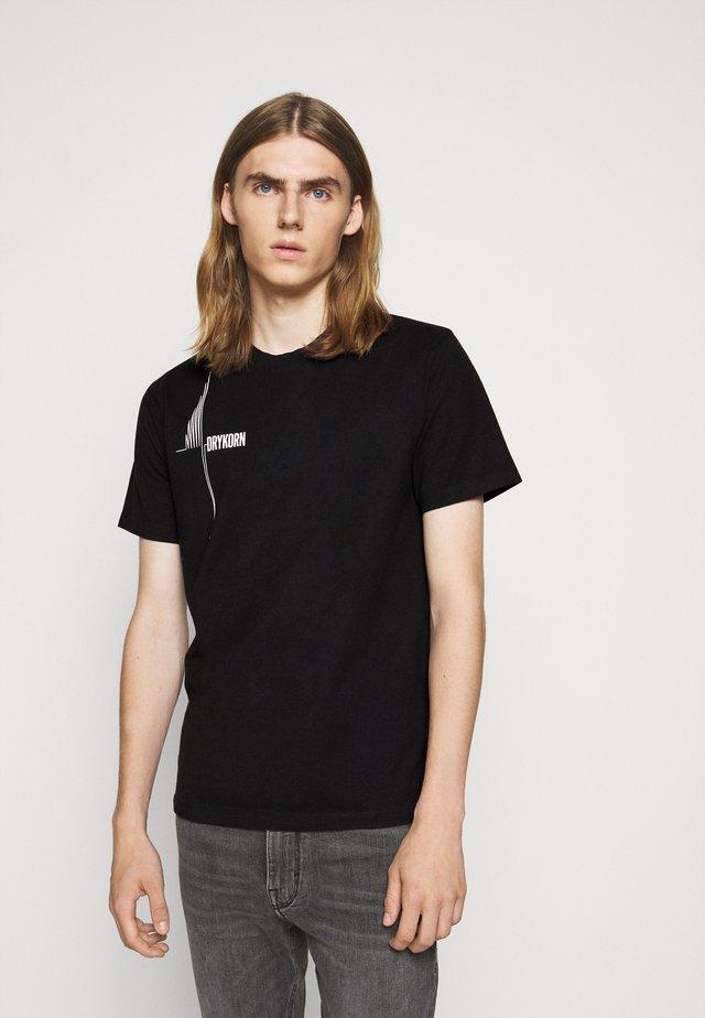 SAMUEL WAVE - T-shirt con stampa - schwarz