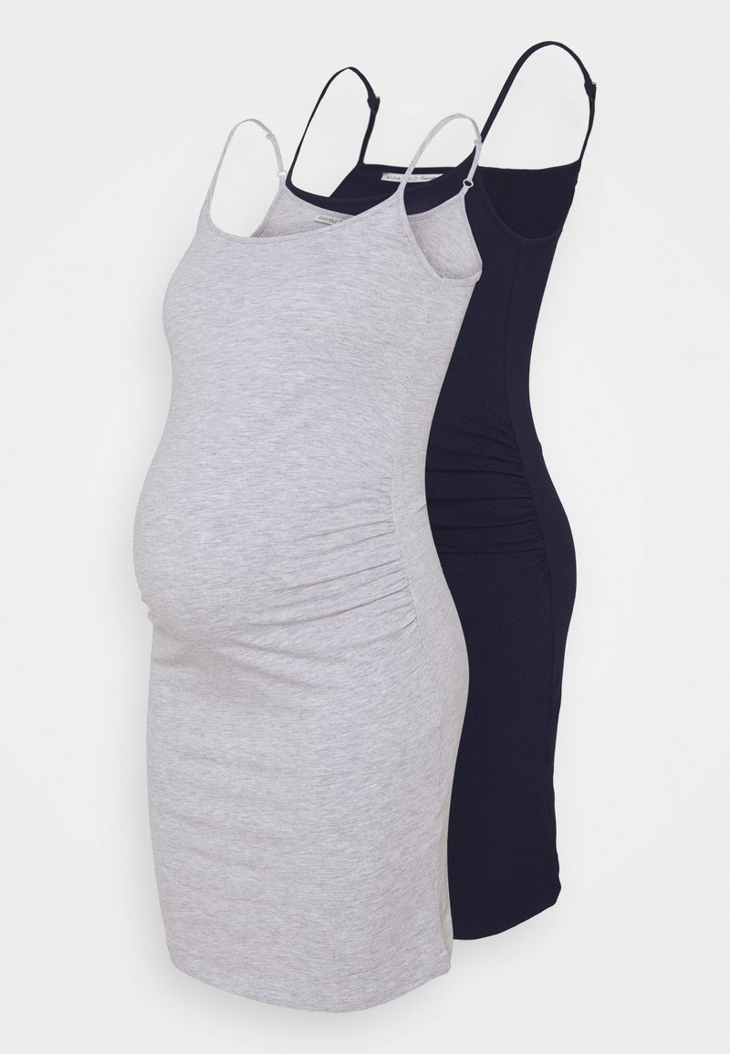 Anna Field MAMA - 2 PACK - Jerseykjole - dark blue/light grey