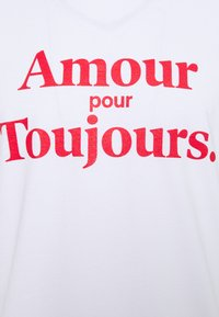 Les Petits Basics - AMOUR POUR TOUJOURS UNISEX - Print T-shirt - white/red - 2
