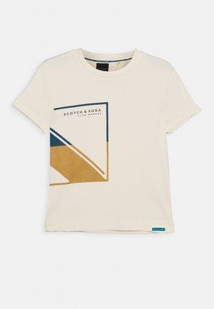 CLUB NOMADE BASIC TEE - Print T-shirt - ecru