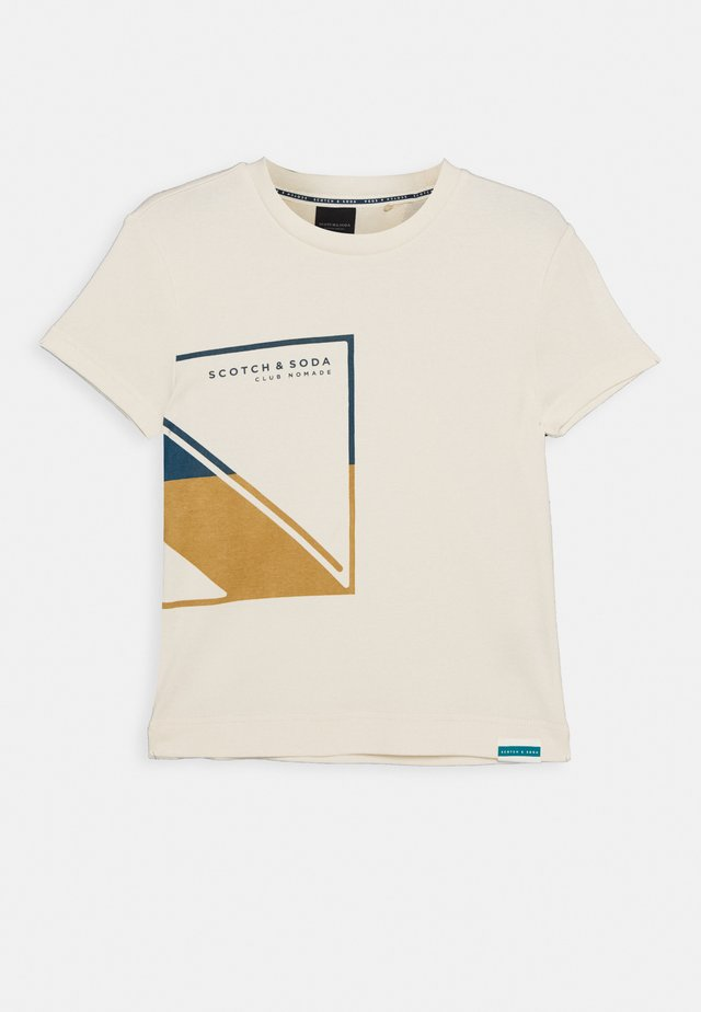 CLUB NOMADE BASIC TEE - T-Shirt print - ecru