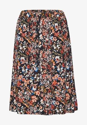 EBON - A-line skirt - blue deep artica florals