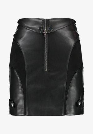 STYLE SKIRT - Mini skirt - black