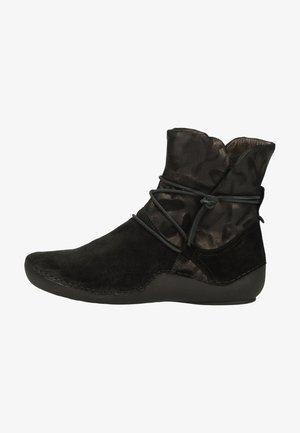 Lace-up ankle boots - sz/kombi