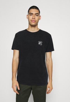 GARDENS - Print T-shirt - black