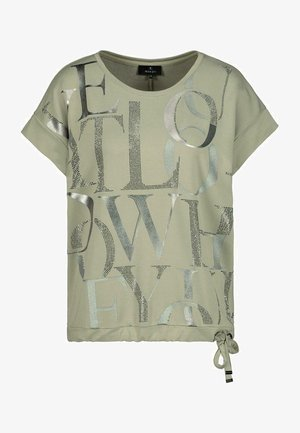 Print T-shirt - dusty green