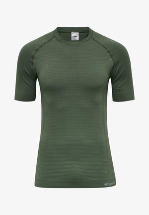 HMLSTROKE SEAMLESS  - Basic T-shirt - thyme