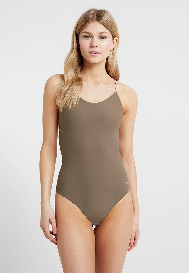 ONE PIECE TWIST BACK SWIMSUIT - Swimsuit - army