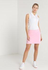 adidas Golf - MICRODOT SLEEVELESS - Polo - white - 1