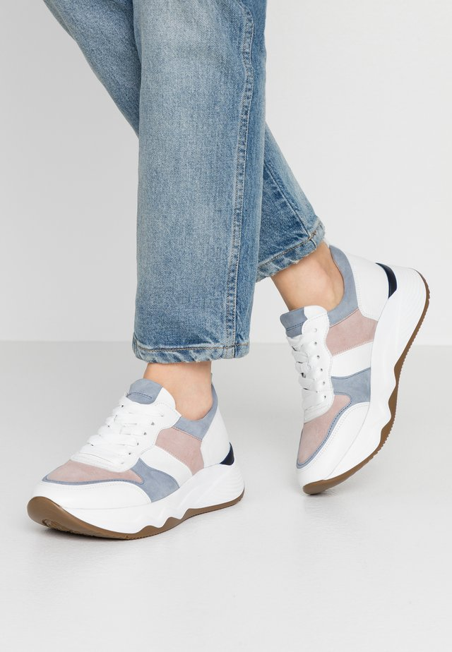 Sneakers laag - weiß/pastell