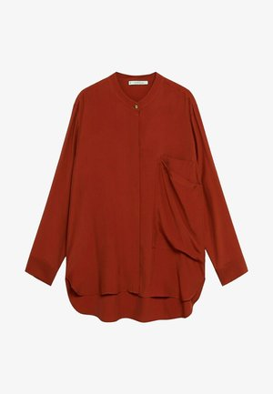 DOBLE - Button-down blouse - granatrot