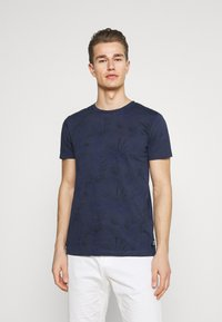 TOM TAILOR DENIM - ALLOVER PRINTED - Print T-shirt - navy blue - 0