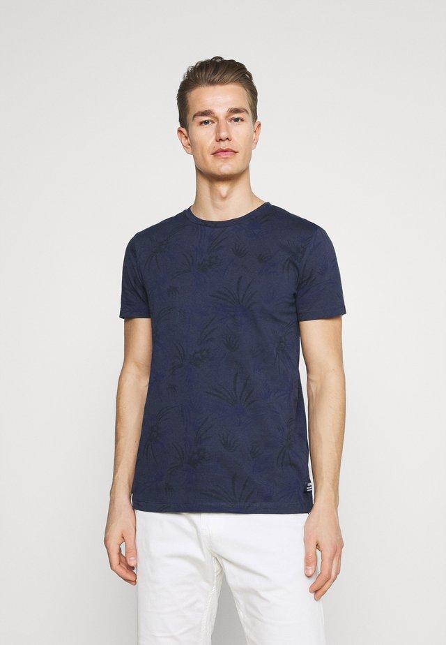 ALLOVER PRINTED - T-shirt print - navy blue