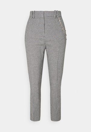 PANTALON - Trousers - black/white