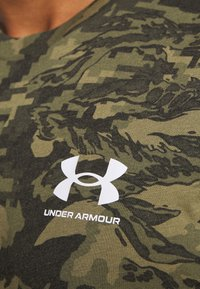 Under Armour - CAMO - Print T-shirt - black/khaki - 5