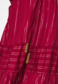 Farm Rio - BURGUNDY STRIPES DRESS - Day dress - pink - 5