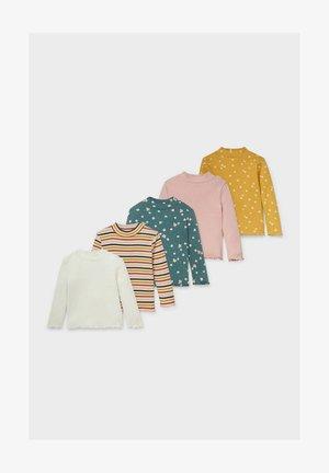 5 PACK - Long sleeved top - white / multicolored/ green/ rose / orange