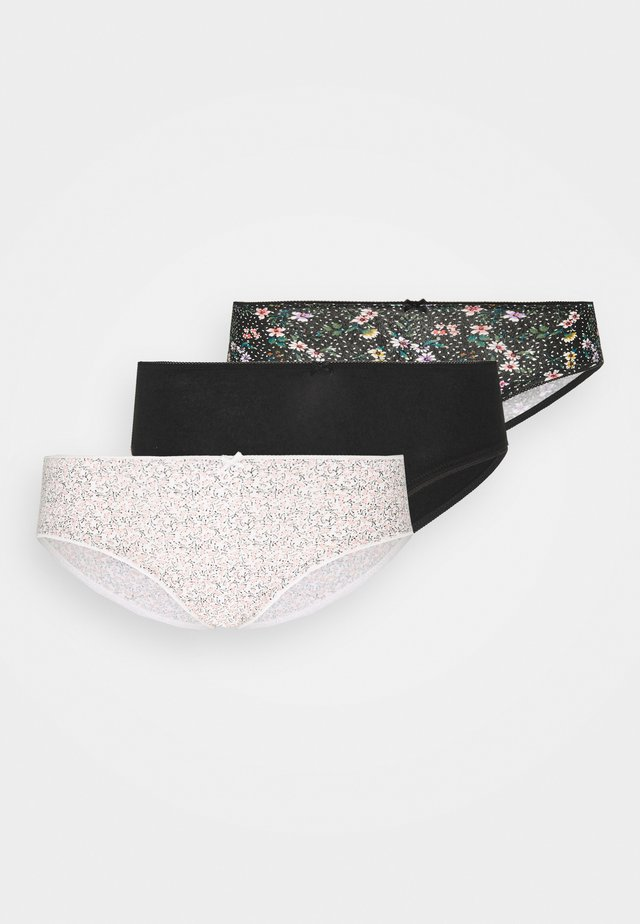 MARTHA 3 PACK - Slip - noir
