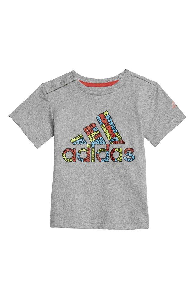 LOGO T-SHIRT - T-shirt imprimé - grey