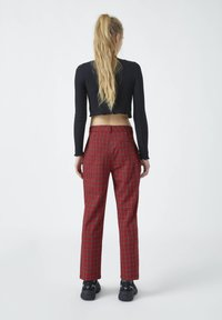 PULL&BEAR - Trousers - red - 2