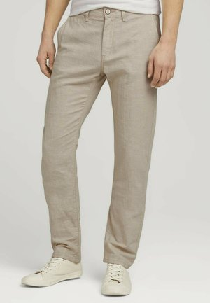 Chinos - beige chambray