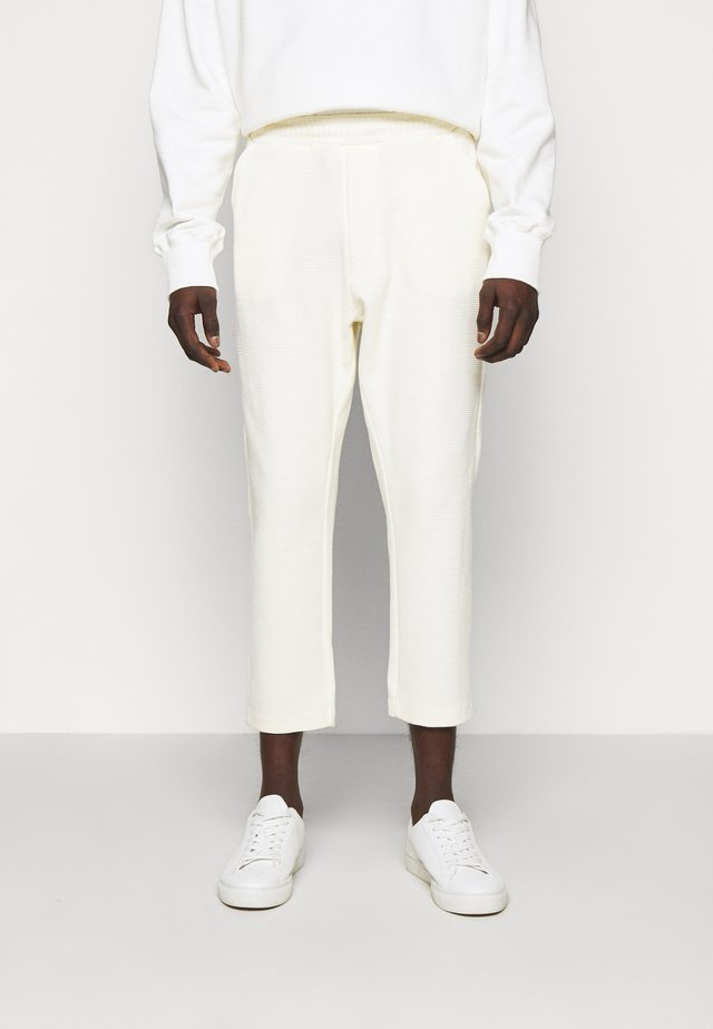 TROUSERS - Kangashousut - off white