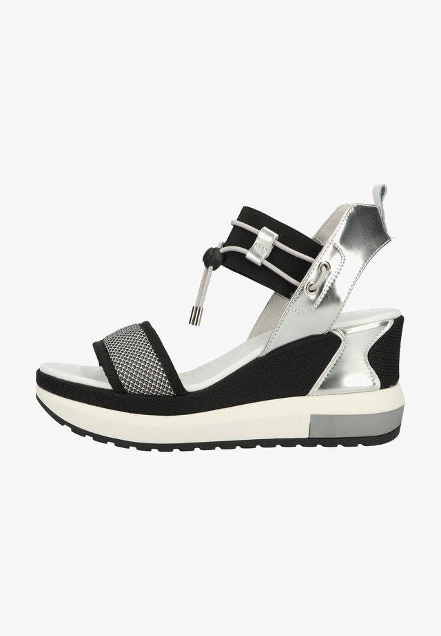 Platform sandals - grigio