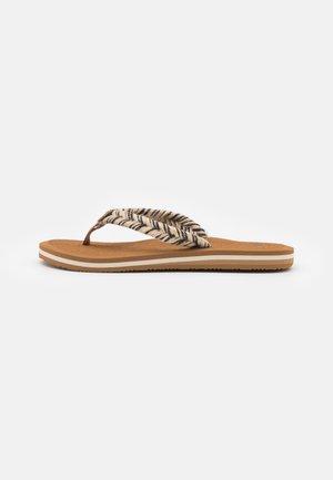 CUSHION BREAK - T-bar sandals - black/multicolor