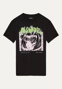 Bershka - MIT PRINT  - T-shirt print - black - 2