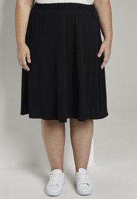 MY TRUE ME TOM TAILOR - A-line skirt - deep black - 0