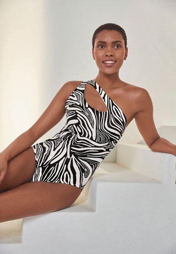 2 PACK - Swimsuit - black /white