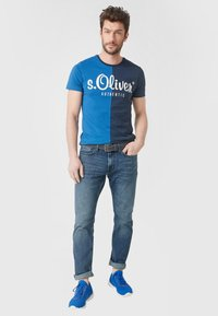 s.Oliver - MIT ZIERNAHT - Belt - smoky blue - 0
