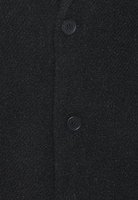 Brixtol Textiles - IAN - Klasický kabát - black melange - 2