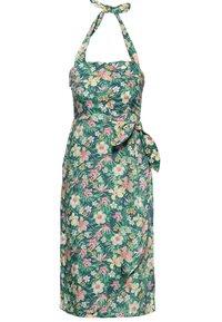 Queen Kerosin - MIT TROPISCHEM MUSTER - Day dress - grün - 0