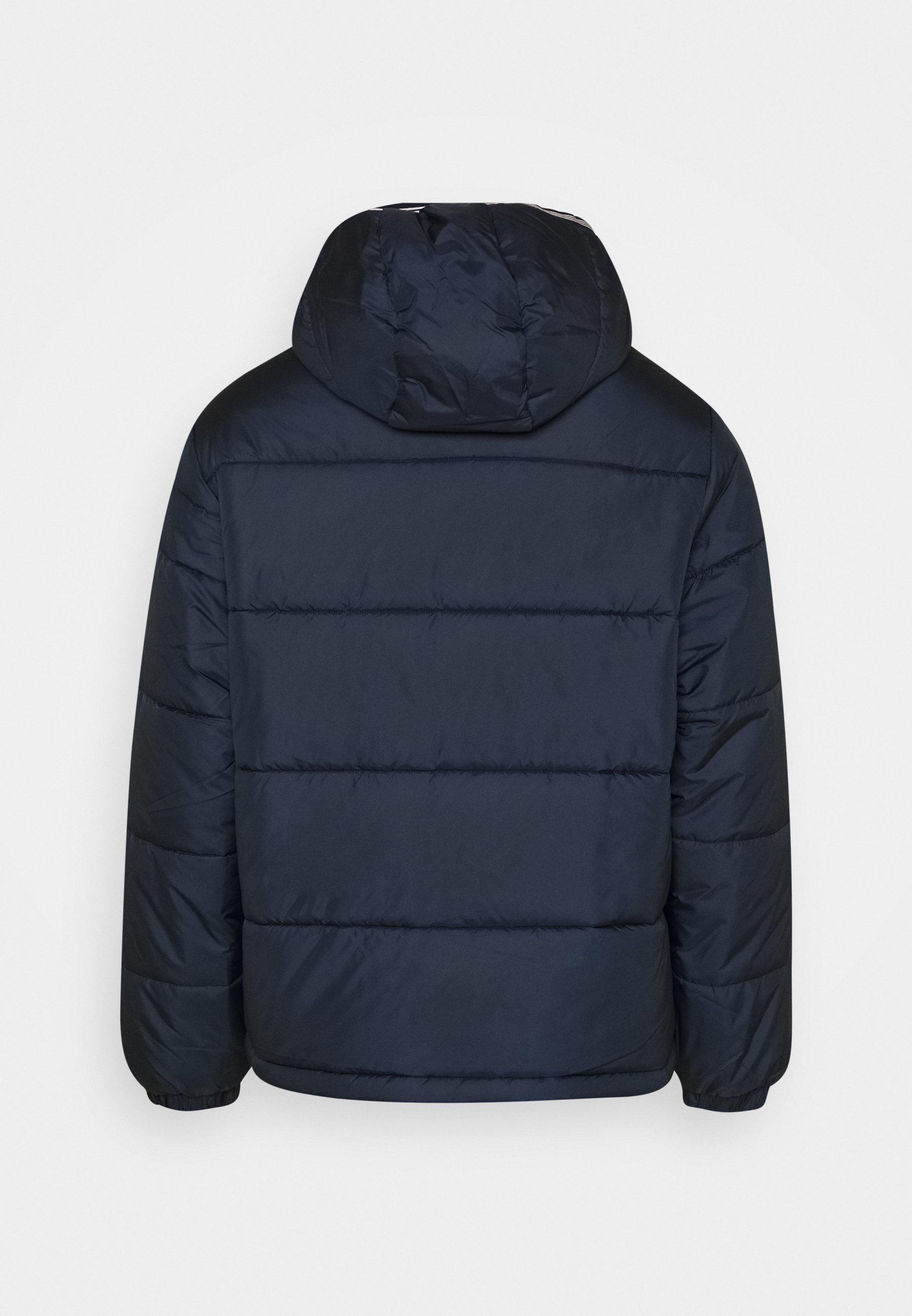 adidas Originals HOODED PUFF - Veste d'hiver - dark blue