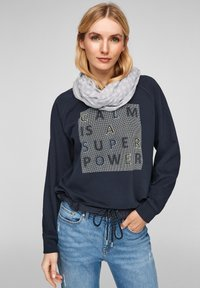 s.Oliver - ALLOVER-PRINT - Snood - light grey placed print - 1