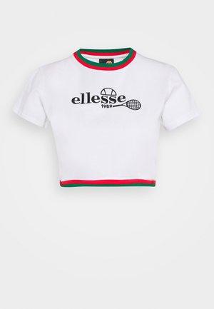 LAURO - T-shirt con stampa - white