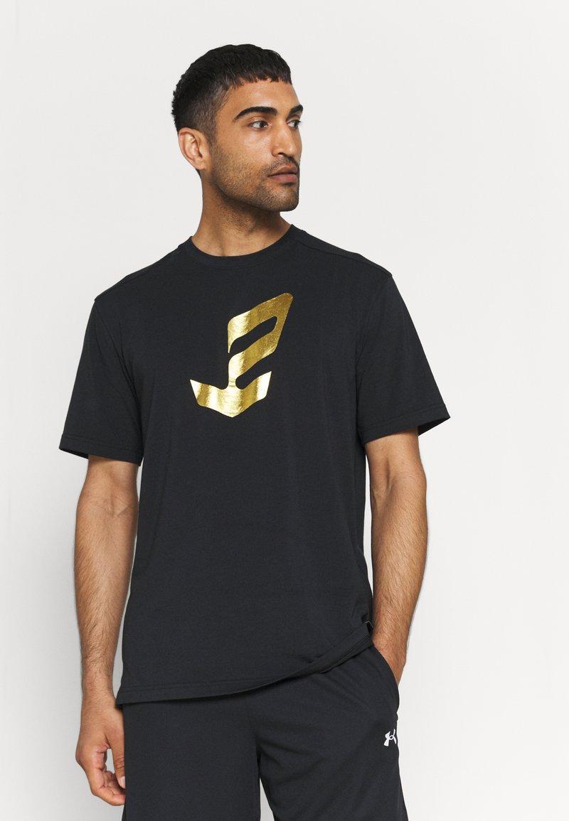 Under Armour - EMBIID MINE TEE - Print T-shirt - black