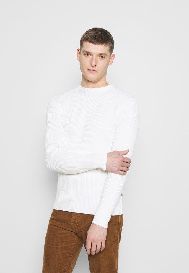 SDMITON - Stickad tröja - off white