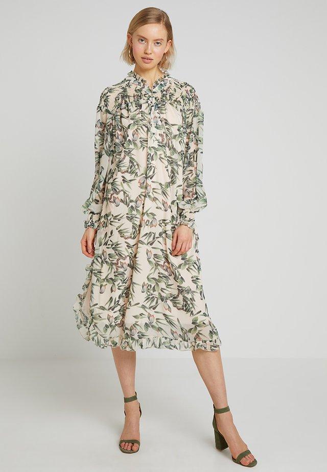 STREET SWEEPER DRESS - Shirt dress - offwhite/multicoloured
