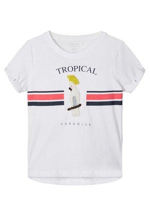 PERLENVERZIERTES - T-shirt print - bright white 1