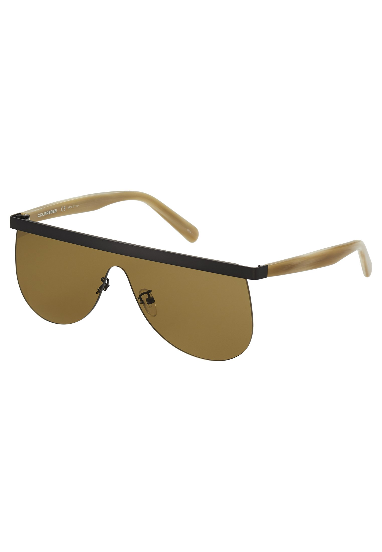 Courreges Sonnenbrille - Ruthenium/beige-brown/braun