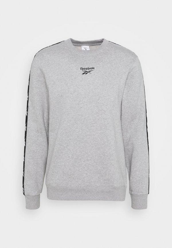 Reebok TAPE CREW - Bluza - medium grey heather/szary Odzież Męska WHYM