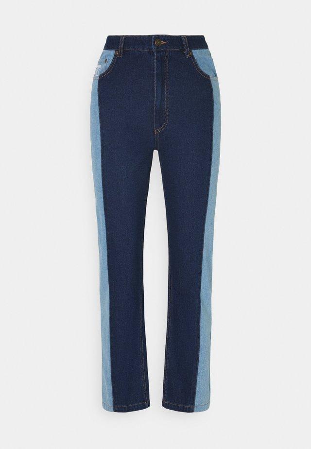 OG BLOCK DENIM PANTS  - Relaxed fit jeans - blue