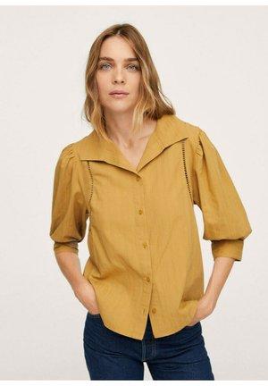 MET POFMOUWEN - Button-down blouse - mosterd