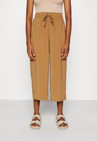 ONLY - ONLCILLE STRING CULOTTE - Trousers - toasted coconut - 0