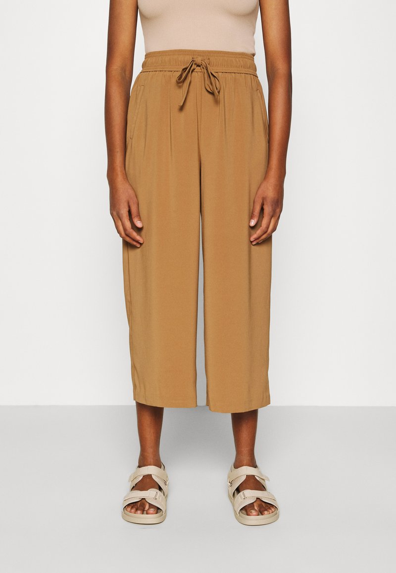 ONLY - ONLCILLE STRING CULOTTE - Trousers - toasted coconut