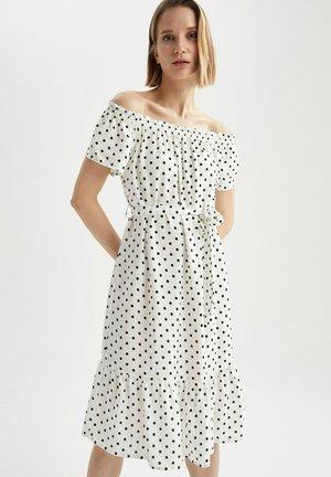 FLOWER PRINT - Day dress - white