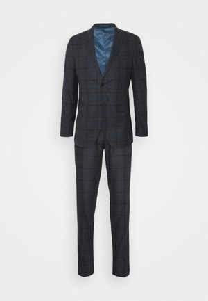 OVERCHECK SLIM SUIT - Suit - navy