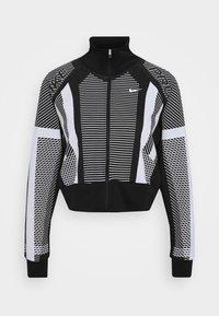Training jacket - black/white/metallic silver
